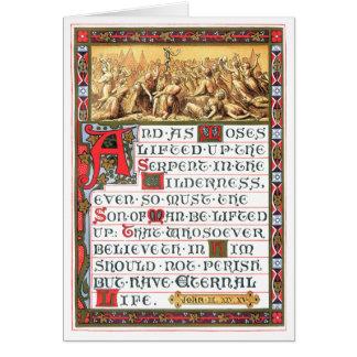 John 3:14-15 Scripture Heritage Artwork Greeting Card