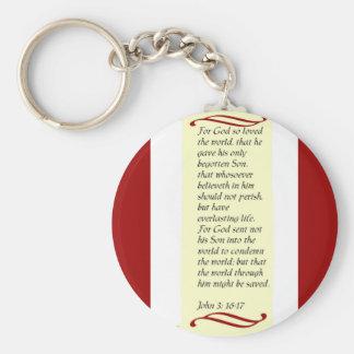 John 3:16- 17 key chain