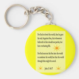 John 3:16-17 key chain