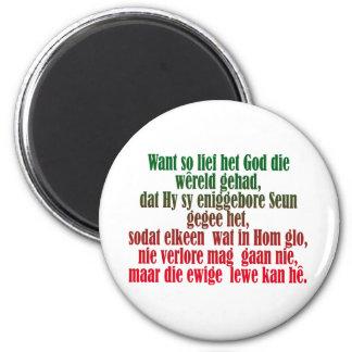John 3:16 Afrikaans Magnet