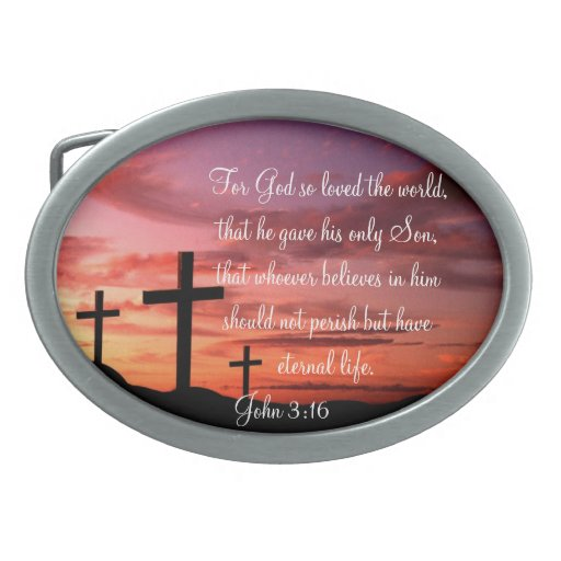 John 3:16 belt buckle