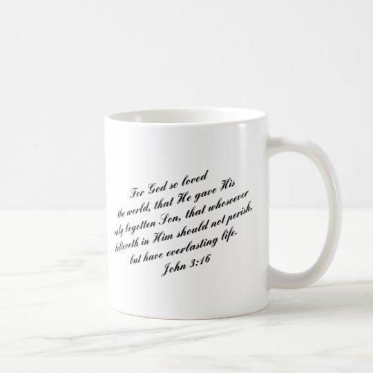 John 3:16 Bible Verse (KJV) Coffee Mug