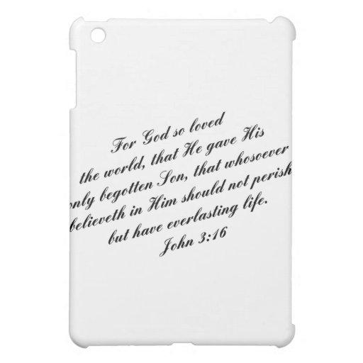 John 3:16 Bible Verse (KJV) iPad Mini Cases