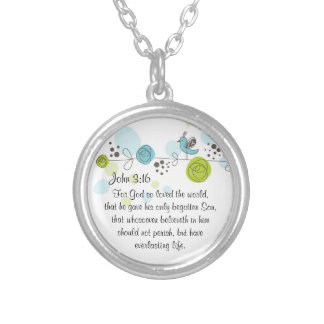 John 3:16 Bible verse necklace For God so loved...