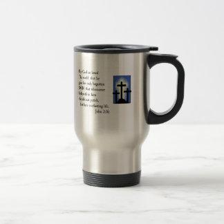 John 3:16 Bible Verse Travel Mug Design