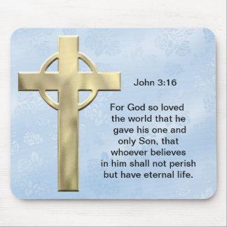 John 3:16 (blue) mouse pad