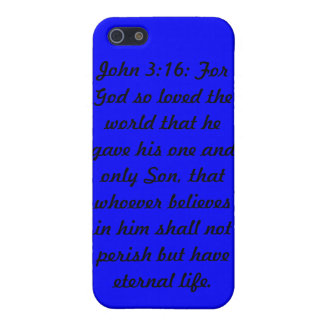 John 3:16 Blue Speck Shell Case for iPhone 4/4S iPhone 5/5S Covers