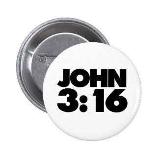 John 3:16 pinback button