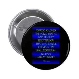John 3:16 pinback buttons