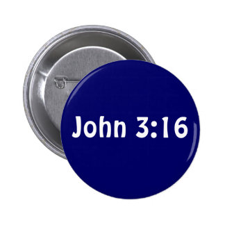 John 3 16 pinback button