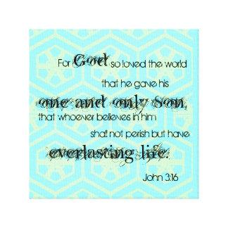 John 3:16 canvas print