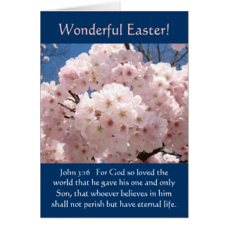 John 3:16 cards Wonderful Easter! Card Blossoms