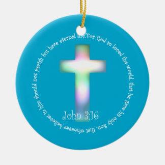 John 3:16 ceramic ornament