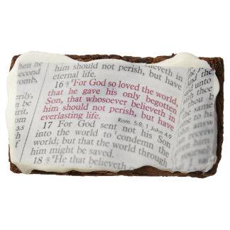John 3:16 chocolate brownie