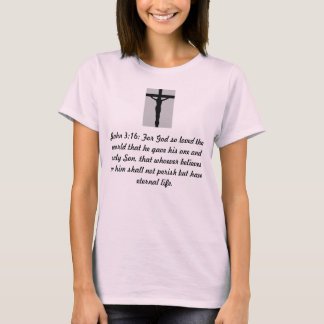 JOHN 3:16 Christ on the Cross Ladies Fitted Top
