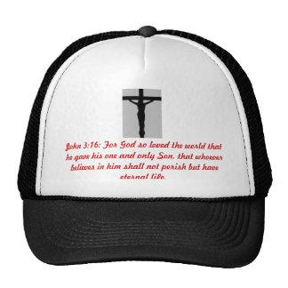 JOHN 3:16 Christ on the Cross Truckers Mesh Cap Trucker Hat