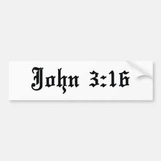 john 3:16 christian bible verse bumper sticker