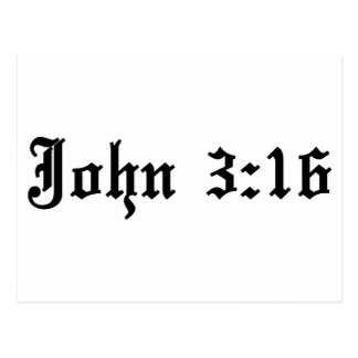 john 3:16 christian bible verse postcard