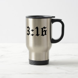 john 3:16 christian bible verse travel mug