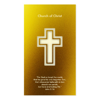 John 3:16 - Christian Double-Sided Standard Business Cards (Pack Of 100)