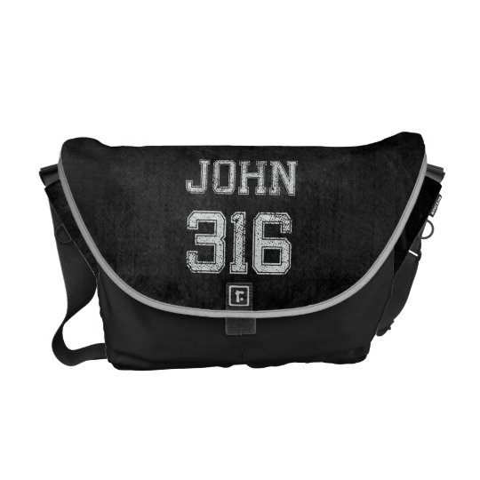 John 3:16 Christian Football Sports Fan Courier Bag