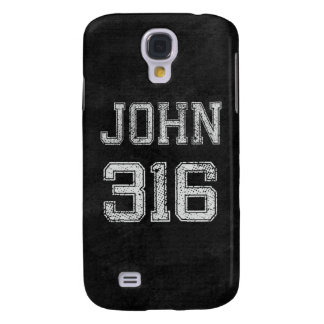 John 3:16 Christian Football Sports Fan Galaxy S4 Cover