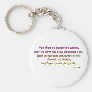 John 3:16 Christian Gift Keychain