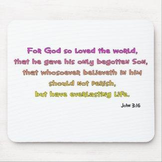 John 3:16 Christian Gift mousepad