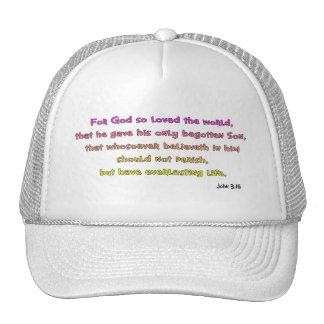 John 3:16 Christian Gift Trucker Hat