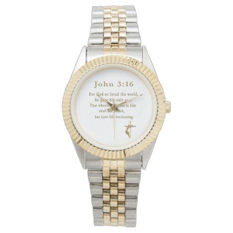 John 3:16 christian gifts watch