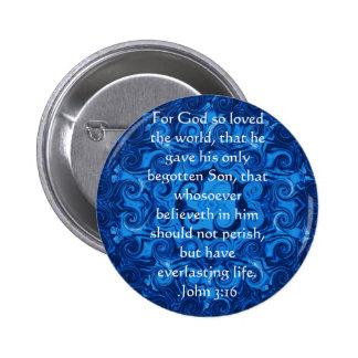 John 3:16 Christian Inspirational Quote Pins