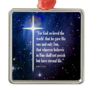 John 3:16 christmas tree ornaments