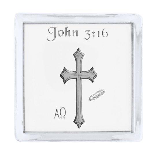 Great John 3:16 Clothing Silver Finish Lapel Pin