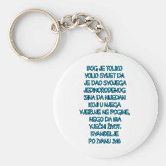 John 3:16 Croatian Keychain
