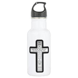 John 3:16 Cross Only 18oz Water Bottle
