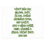 John 3:16 Czech Post Card