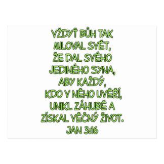 John 3:16 Czech Postcard