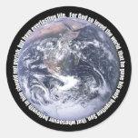 John 3:16-Earth-Sticker