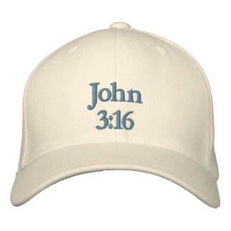 John 3:16 embroidered baseball hat
