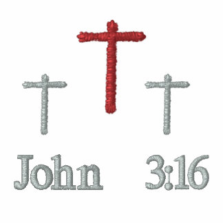 John 3 16 - Embroidered T-Shirt