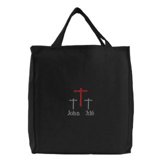John 3 16 Embroidered Tote Bag