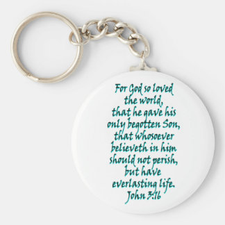 John 3:16 English Keychain