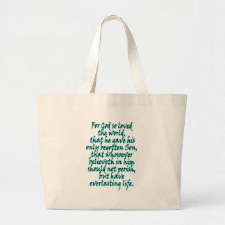 John 3:16 English Large Tote Bag