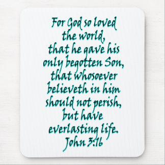 John 3:16 English Mouse Pad