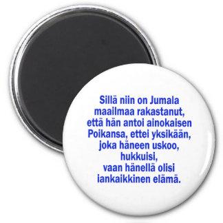 John 3:16 Finnish Magnet