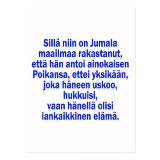 John 3 16 Finnish Postcard