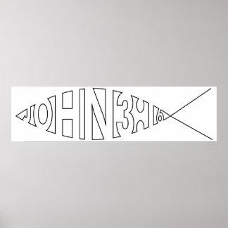 John 3:16 Fish Poster