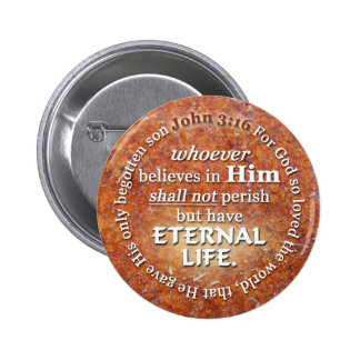 John 3:16 For God So Loved The World Bible Verse Pinback Button