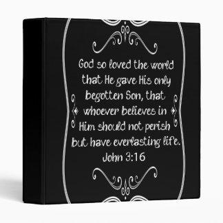 John 3:16 For God So Loved the World Binder