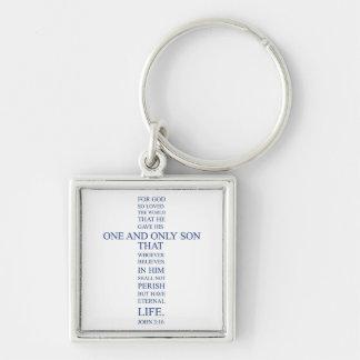 John 3:16 - For God so loved the world Keychain